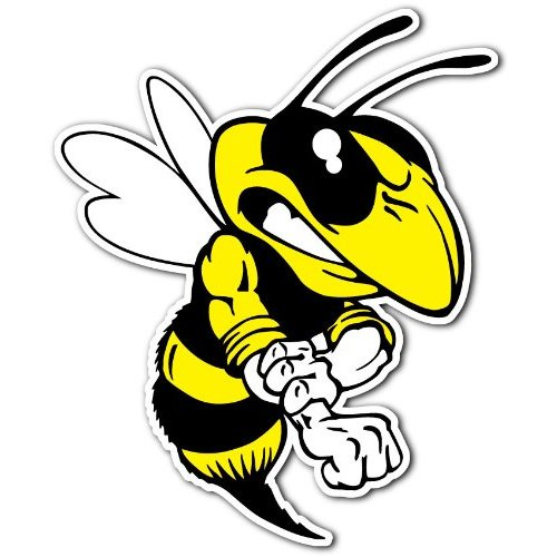 Hornet mascot clipart 3
