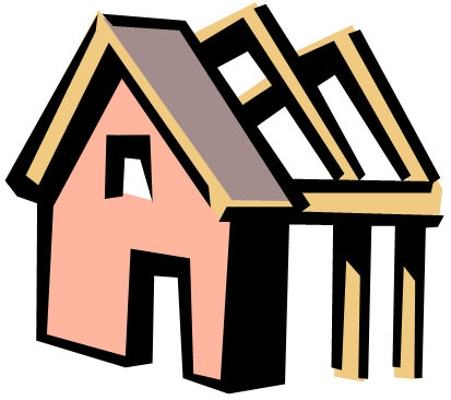 House under construction clipart