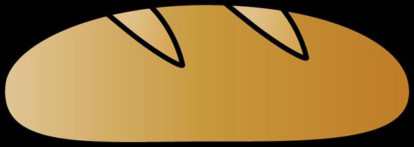 Italian bread clipart