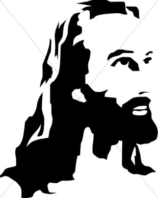 Jesus clip art black and white free clipart images 5