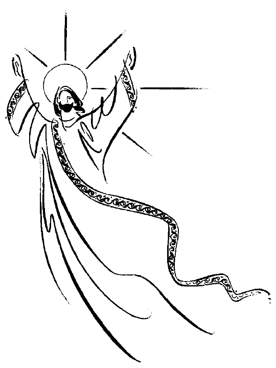 Jesus clip art black and white free clipart images 7