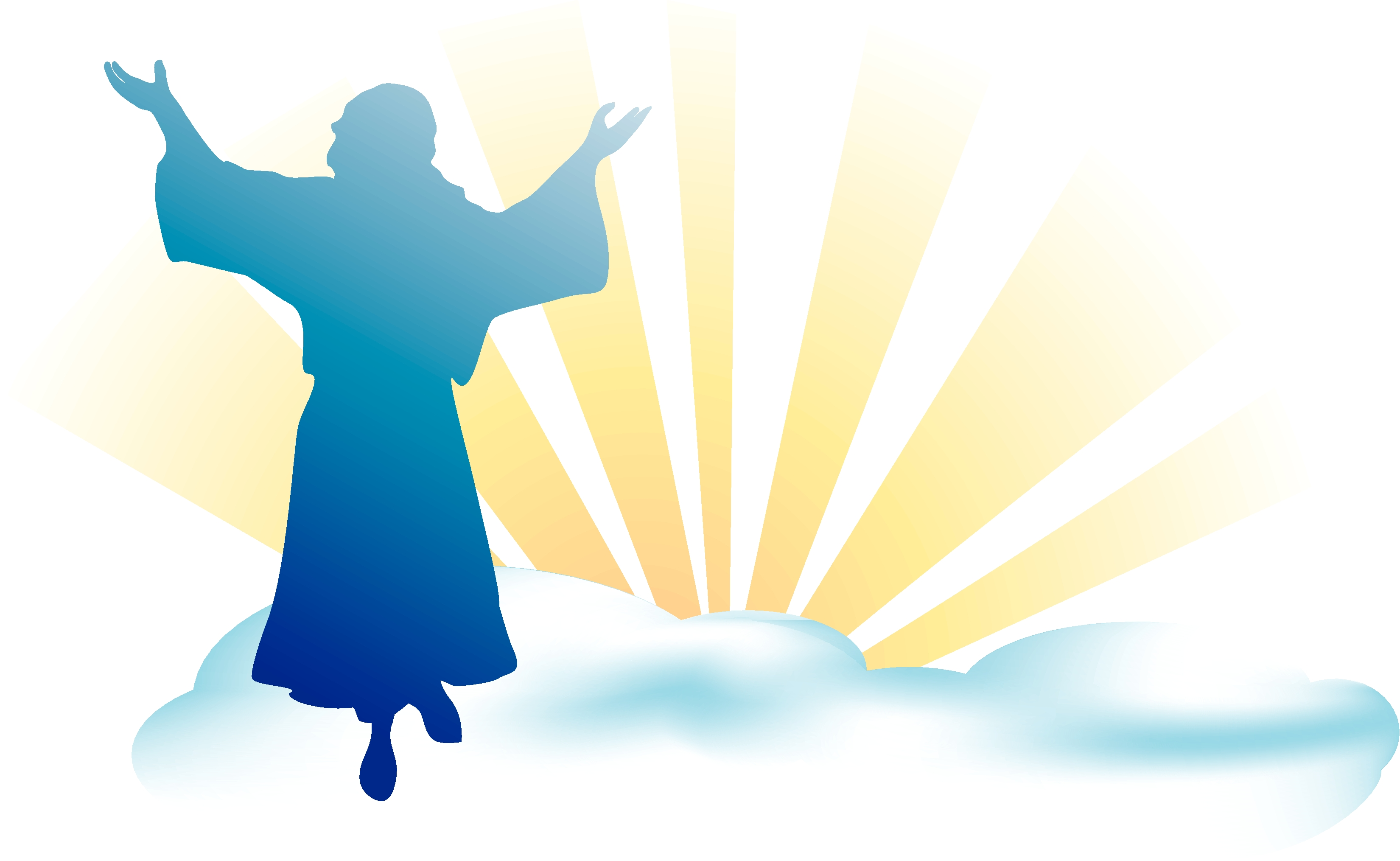Jesus is risen clipart