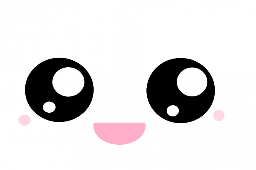 Kawaii eyes clipart face