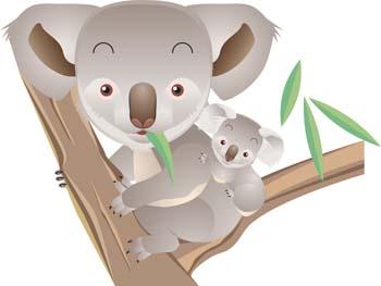 Koala clip art vector 5 graphics