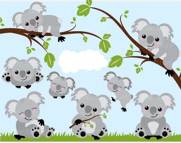 Koala cliparts