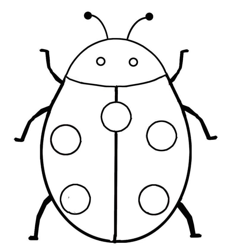 Ladybug outline 9 clip art 2