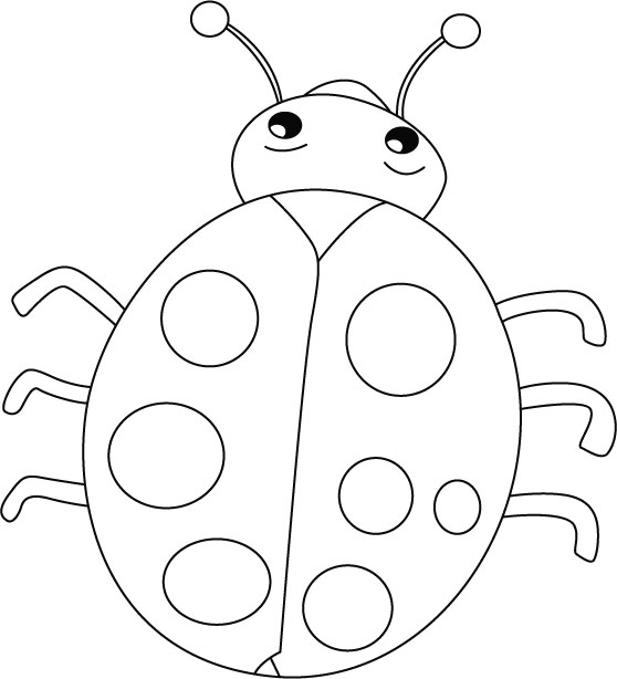 Ladybug outline 9 clipart 2 - WikiClipArt