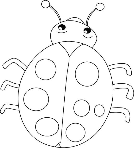 Ladybug outline 9 clipart 2
