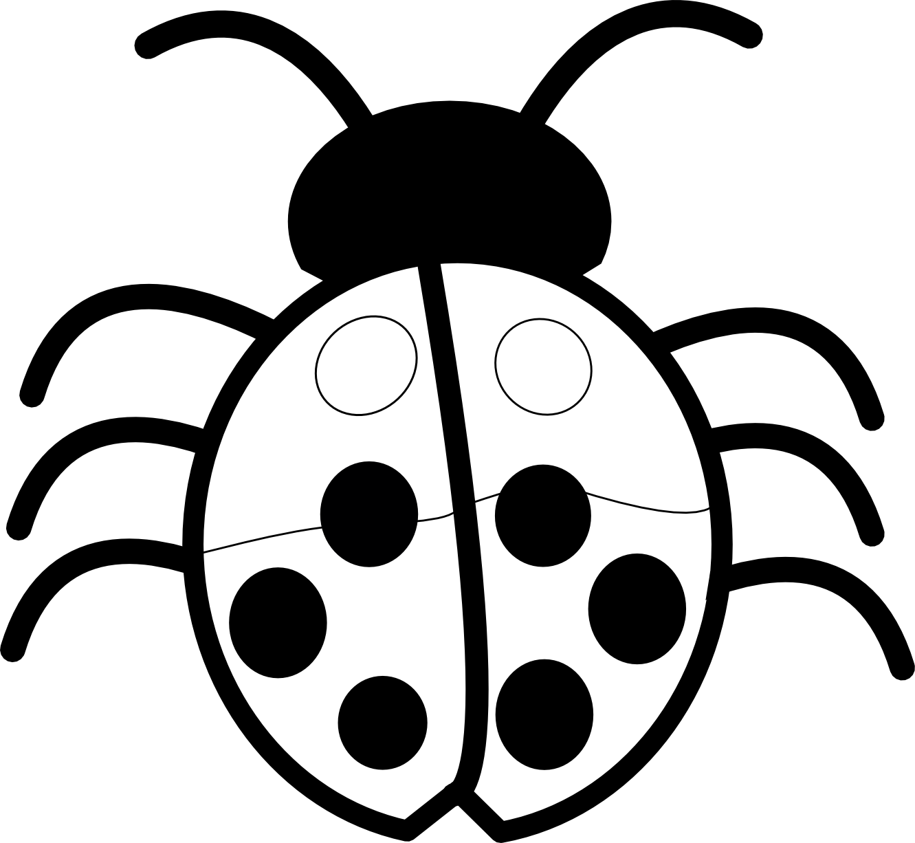 Ladybug outline clipart 4
