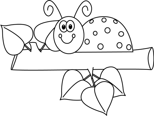 Ladybug outline clipart 8