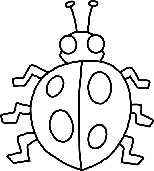 Ladybug outline clipart free images