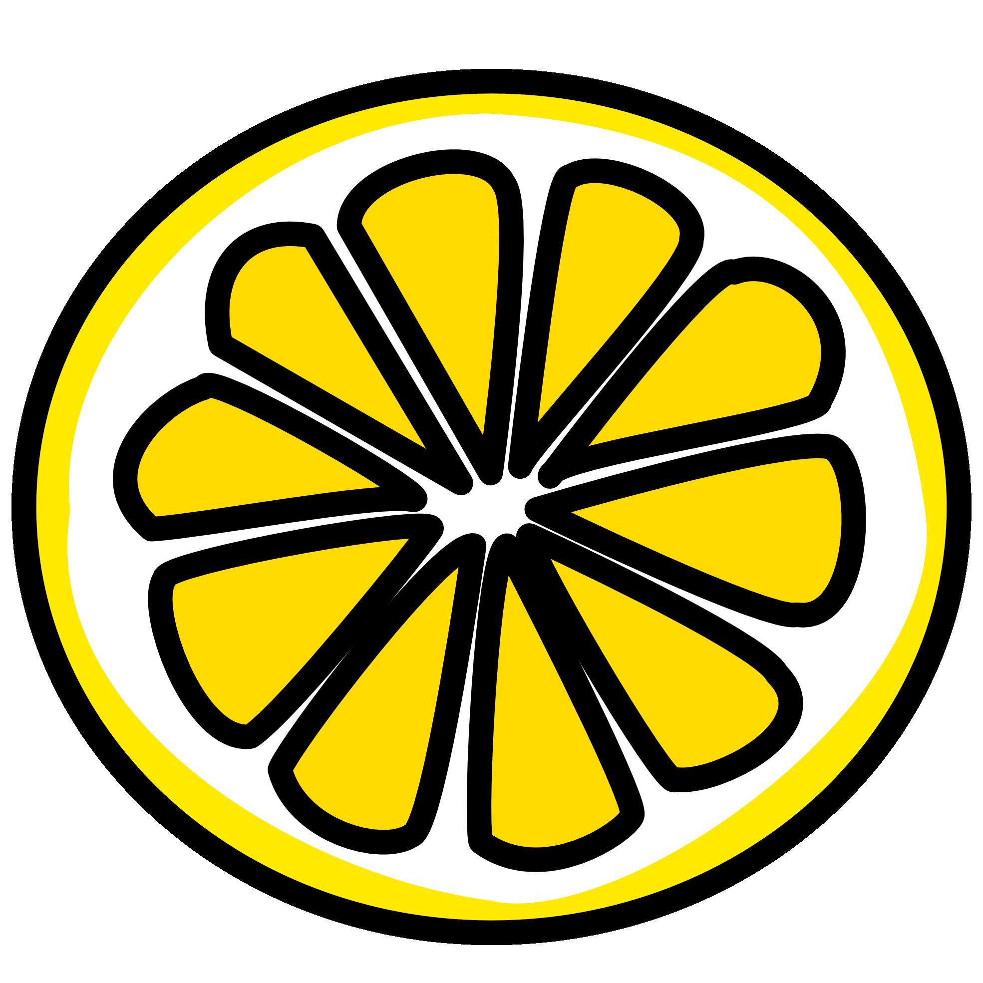 Lemon clip art 3