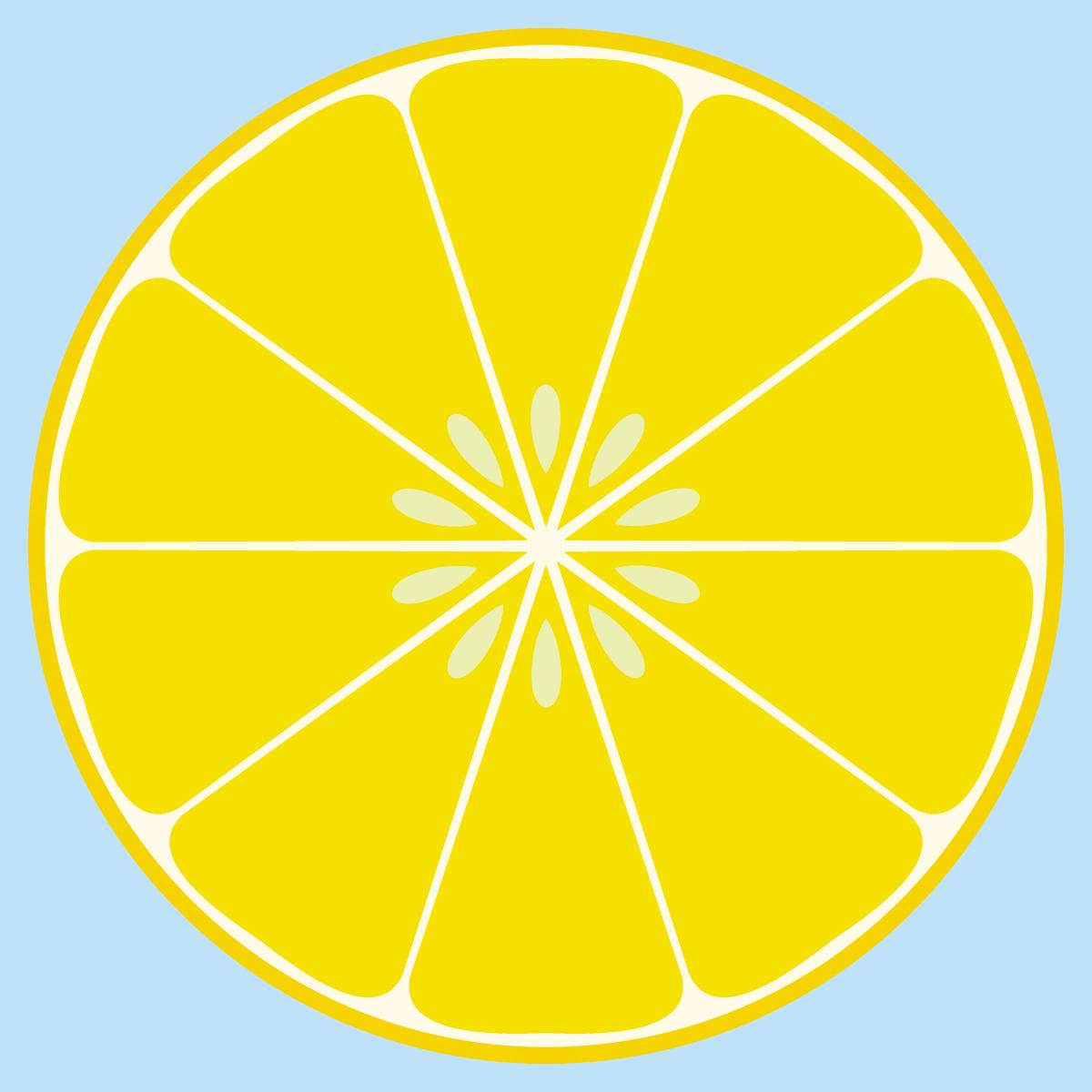 Lemon clip art 4