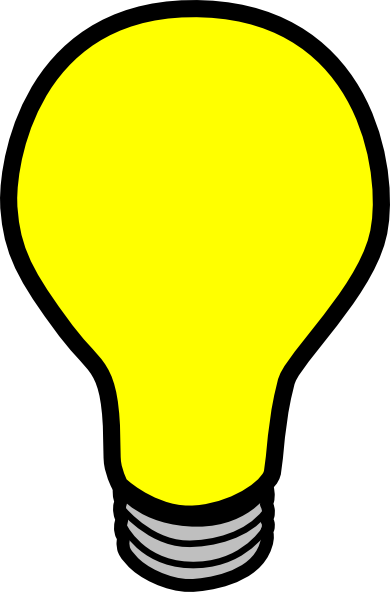 Lightbulb animated light bulb clipart