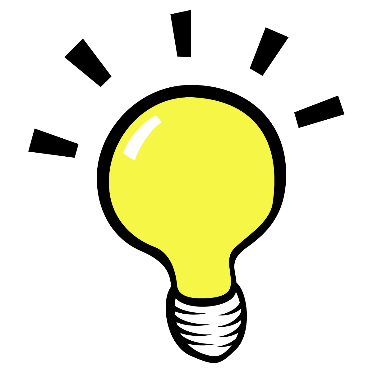 Lightbulb light bulb thinking clipart