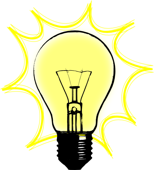 Lightbulb related keywords clip art