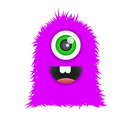 Little monster clipart 8