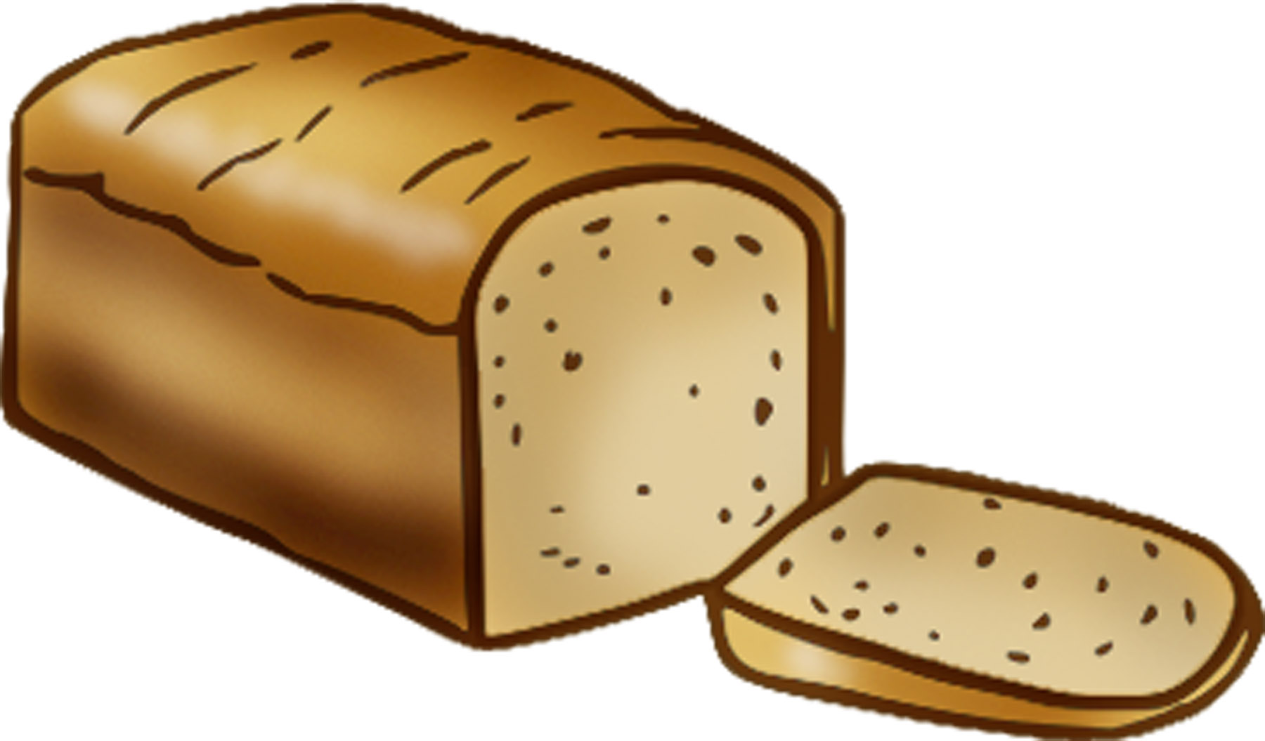 Loaf of bread clipart and illustration clip art vector