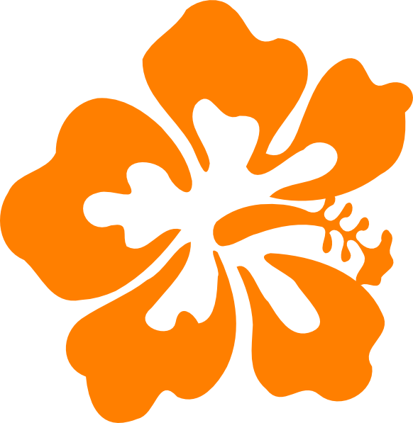 Luau hawaiian flower clip art tropical plants vector