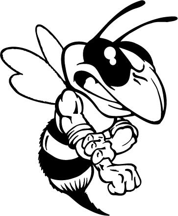 Mean hornet clipart