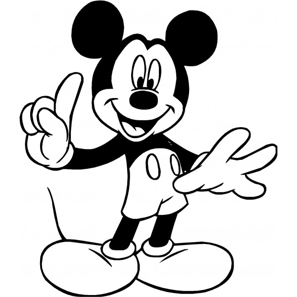 Mickey mouse clip art silhouette free clipart images