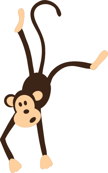 Monkey Black And White Clip Art