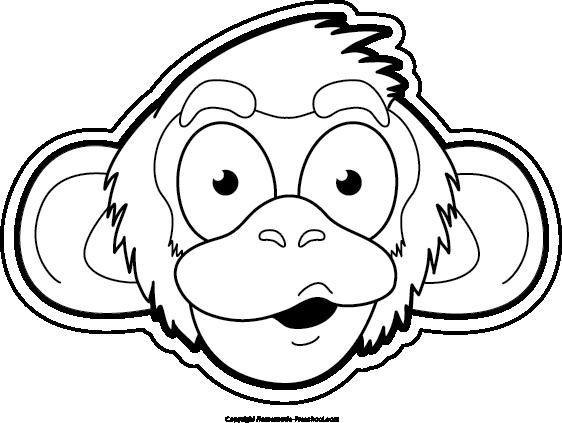 Monkey  black and white free monkey clipart 2