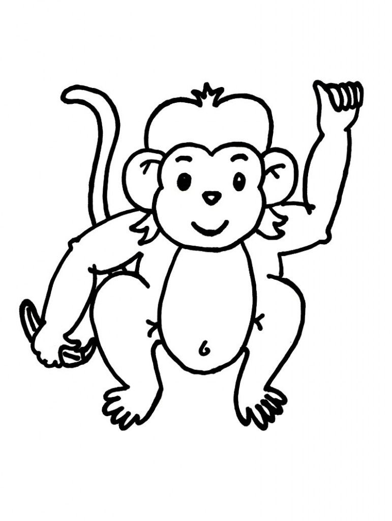 Monkey  black and white monkey clip art black and white free clipart images 3
