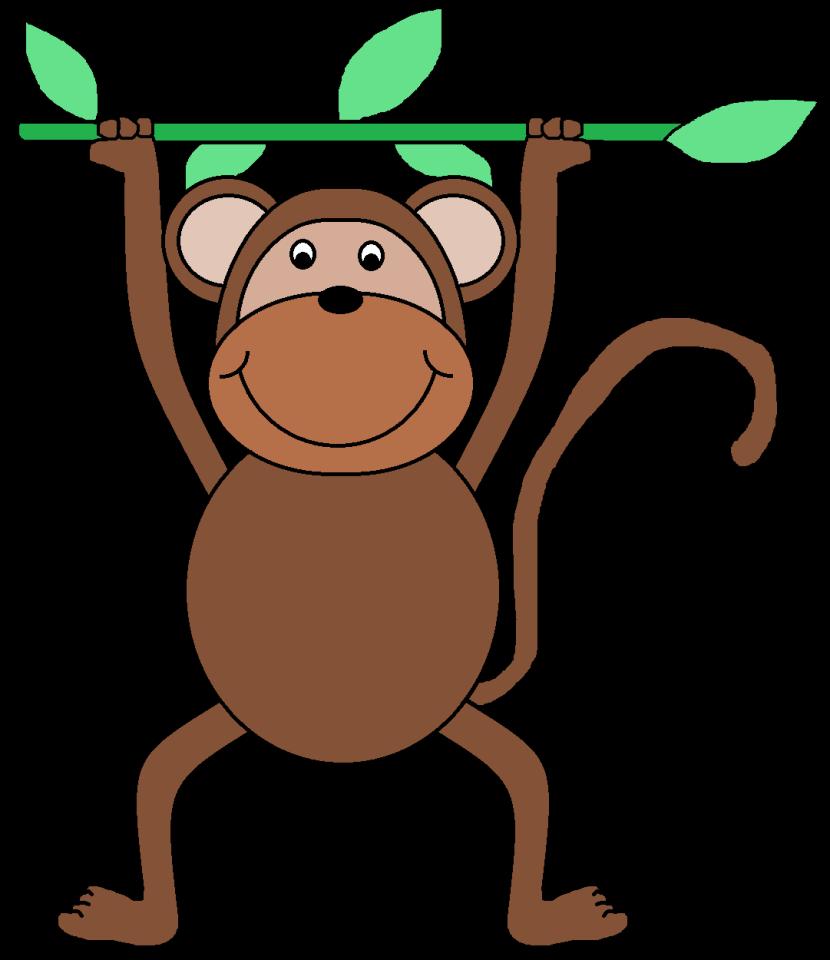 Monkey  black and white monkey clipart 2