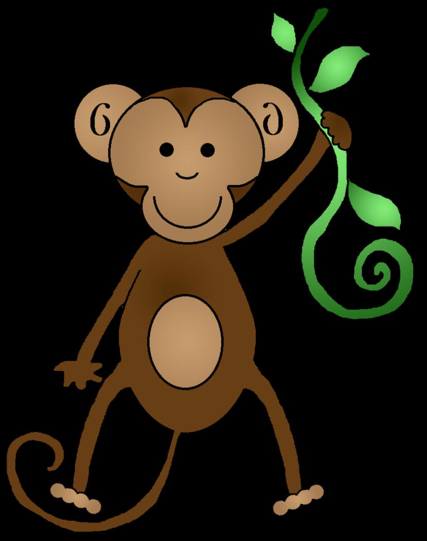 Monkey  black and white monkey clipart 3