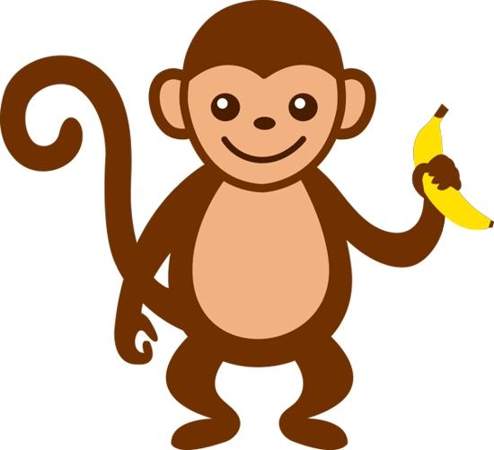 Monkey  black and white monkey clipart