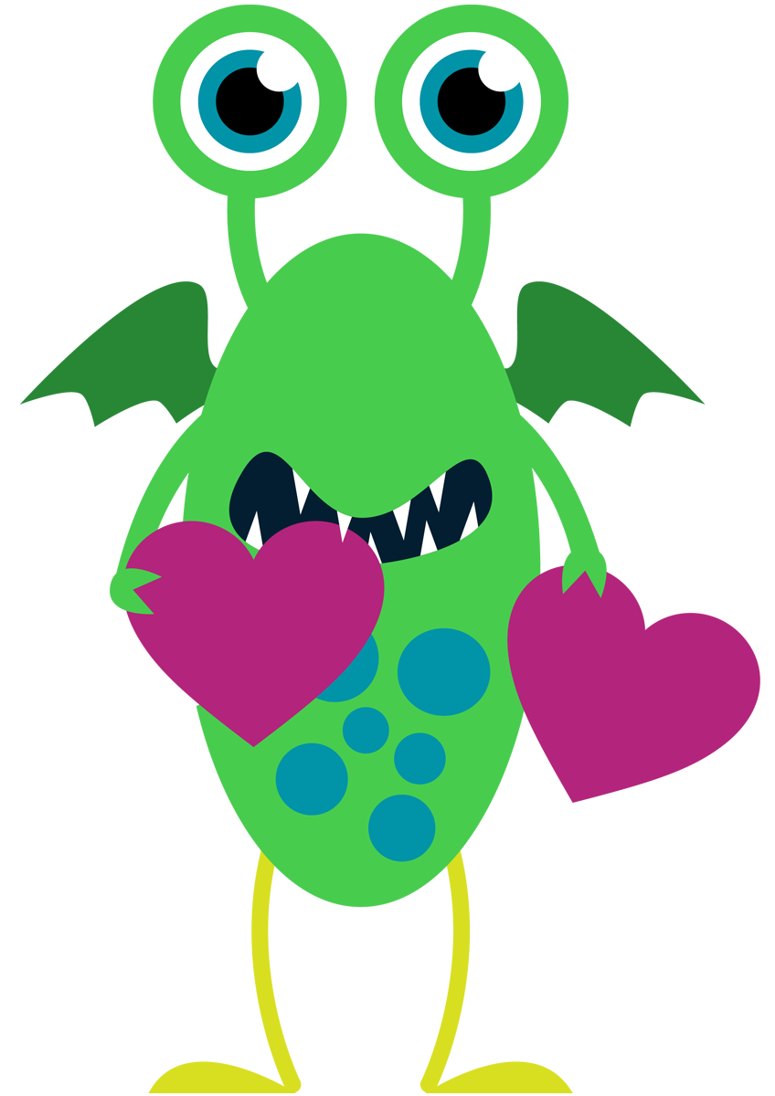 Monster clipart 12