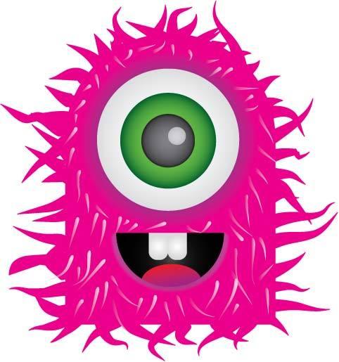 Monster clipart 7