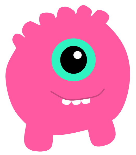 Monster clipart 9