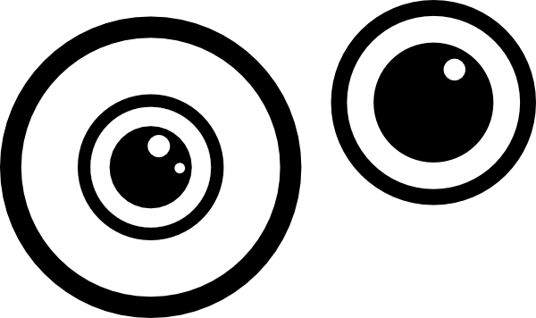 Monster eyes clipart black and white