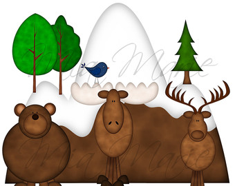 Moose clipart 7