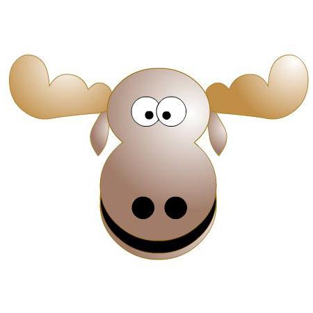 Moose clipart 8
