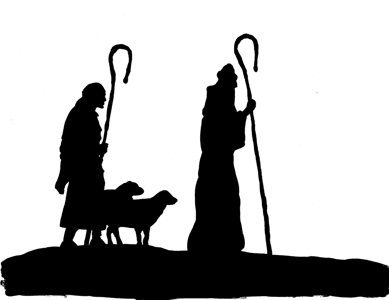 Nativity silhouette  free christmas silhouette clipart