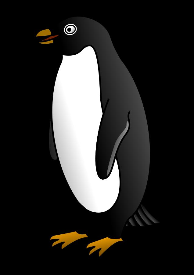 Penguin  black and white clip art black and white clipart
