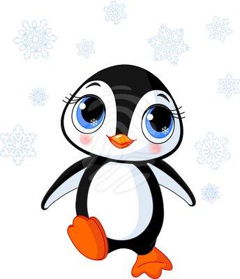Penguin  black and white penguin clip art 9 4