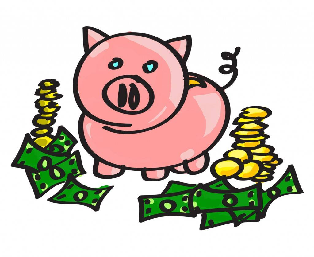Piggy bank clip art 0