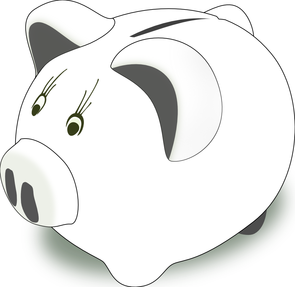 Piggy bank clip art clipart 3