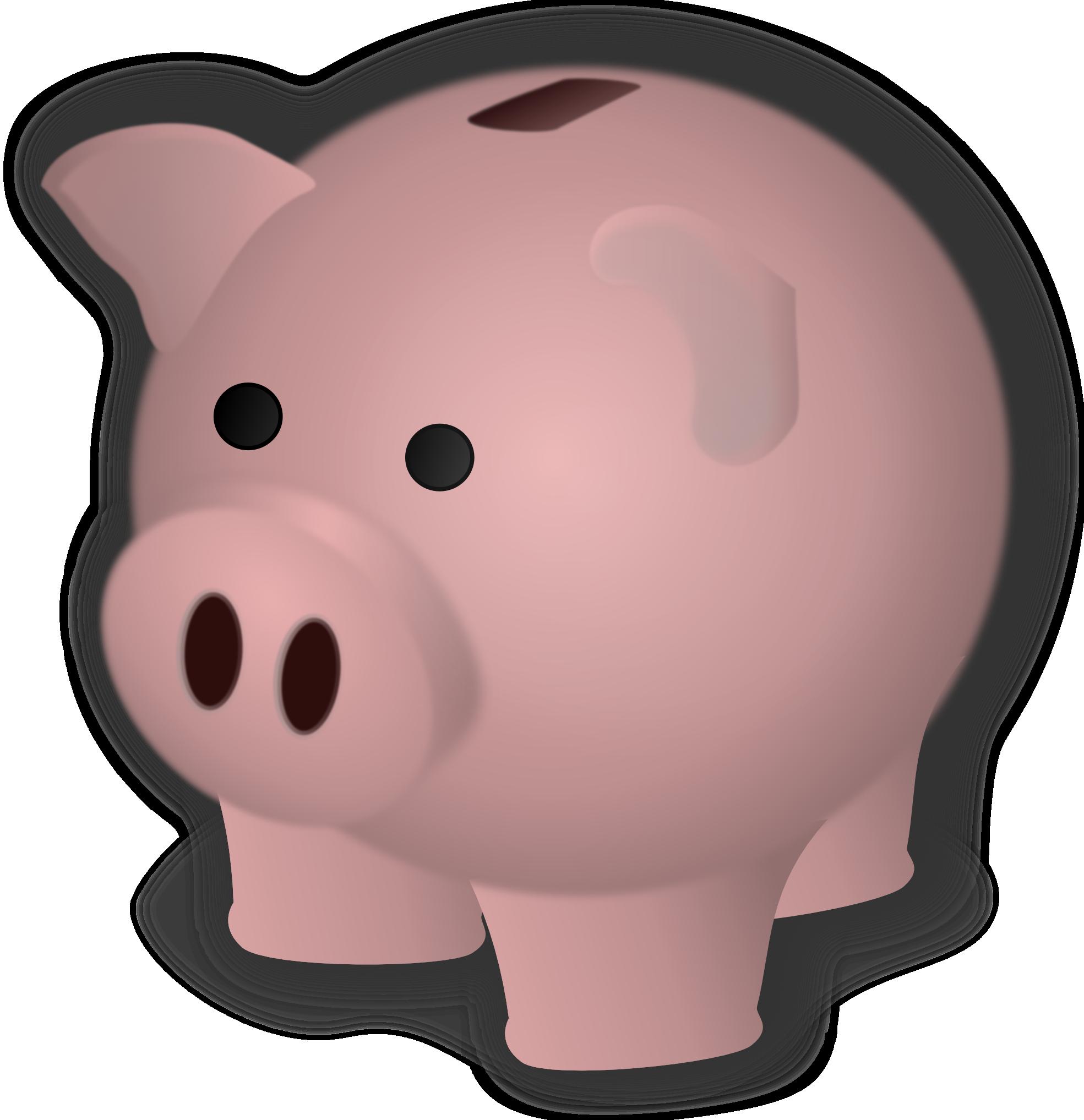 Piggy bank clip art clipart 4