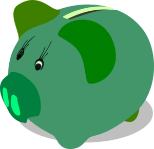 Piggy bank clipart free images 4