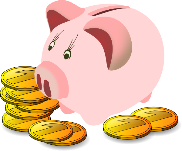 Piggy bank clipart free images