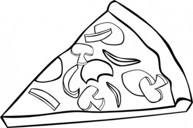 Pizza  black and white pizza clipart black and white free images 3