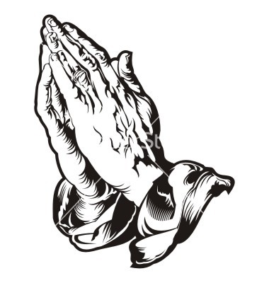 Praying hands clipart 8