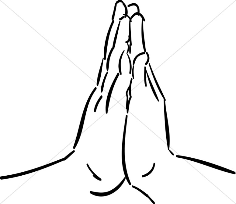 Praying hands hands together in prayer clipart