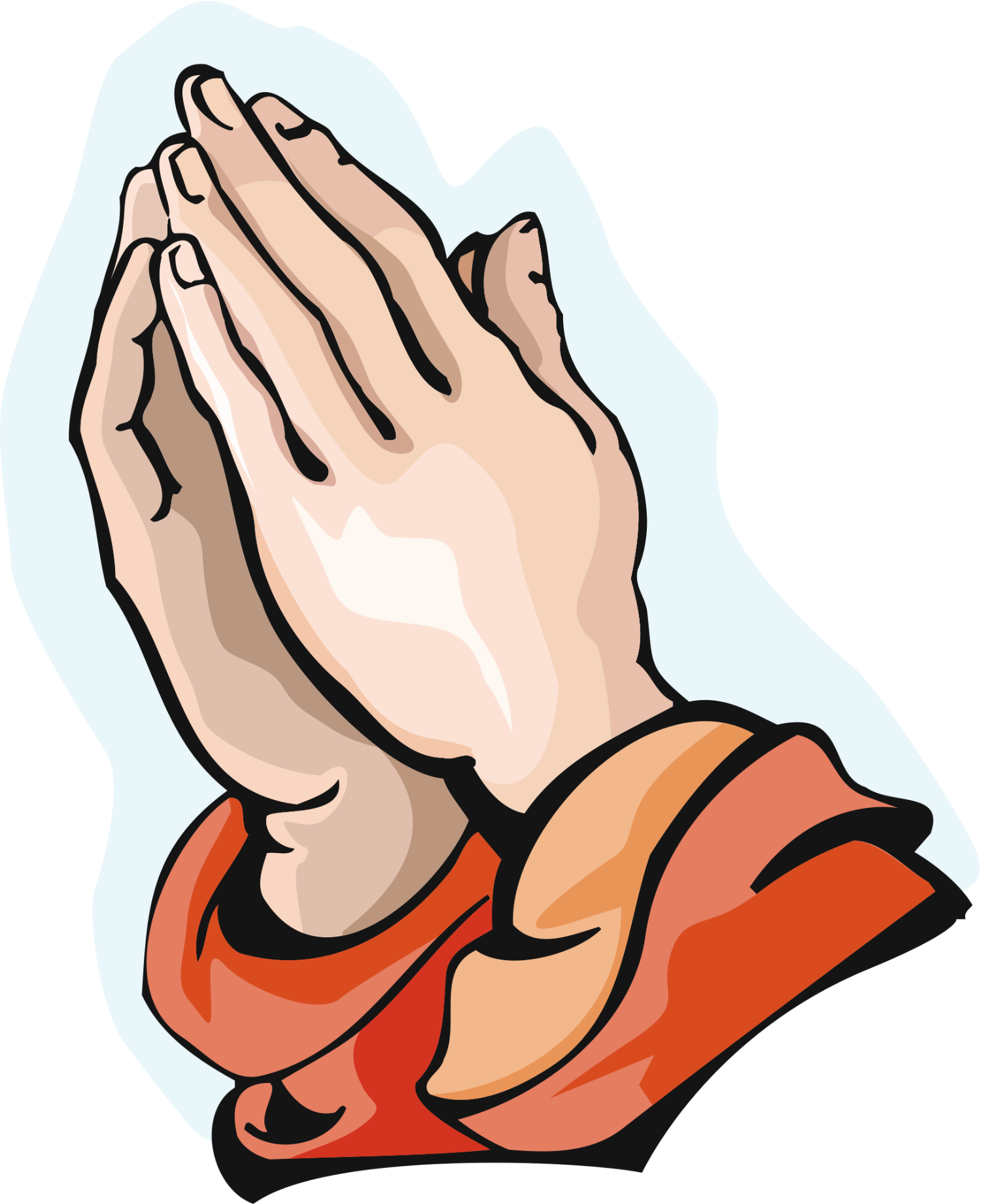 Praying hands with rosary clipart clipart