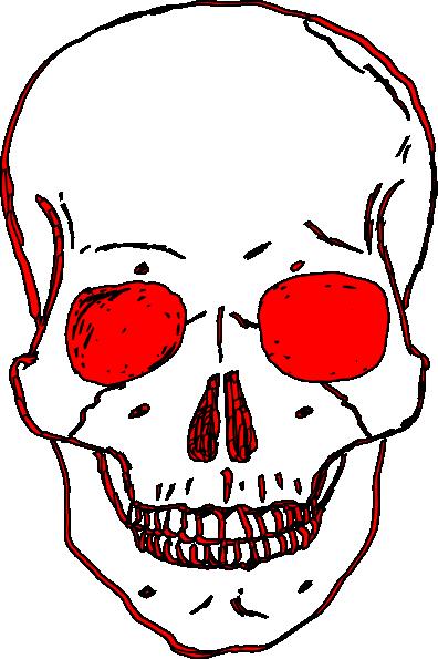 Red skull clip art at vector clip art